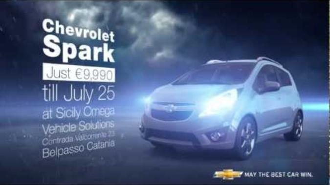 Chevrolet - Advertising, localized. Chevrolet Spark - Rainy day version