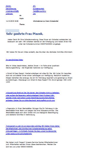 Zurich Austria - Email IMAGEN